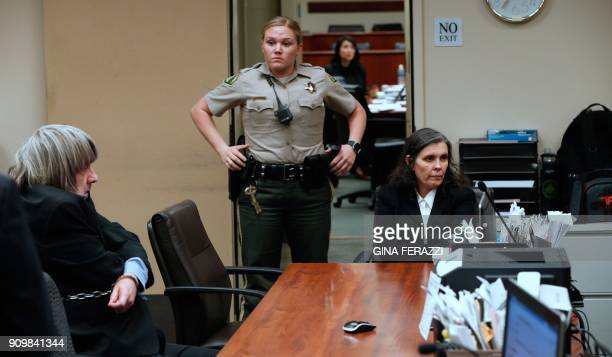David and Louise Turpin appear handcuffed in court on January 24 2018 in Riverside California David Allen Turpin and his wife Louise Anna Turpin 49...