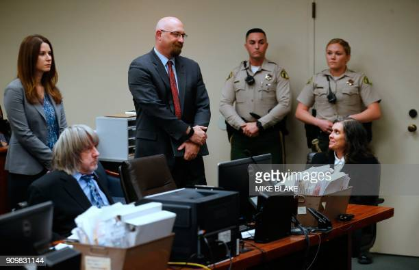 David and Louise Turpin appear in court with their lawyers on January 24 2018 in Riverside California David Allen Turpin and his wife Louise Anna...