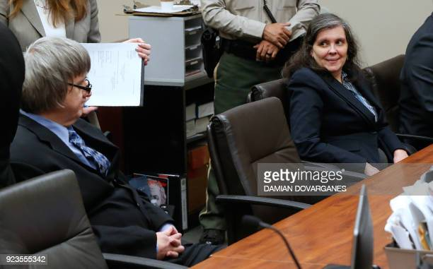 David and Louise Turpin the parents who allegedly held their 13 children captive appear in court on February 23 2018 in Riverside California where...