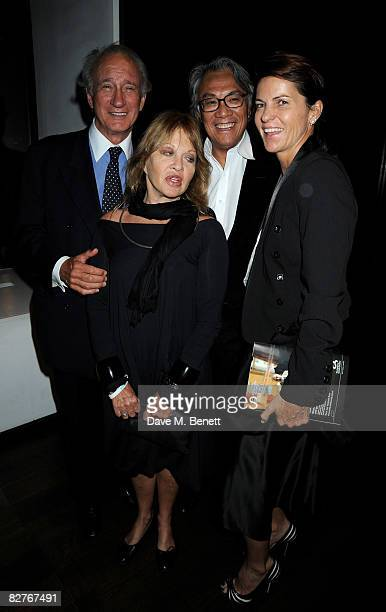 David and Lucy Tang with Anouska Hempel and Lord Weinberg attend the afterparty following the gala performance of 'Rain Man' at the Trafalgar Hotel...