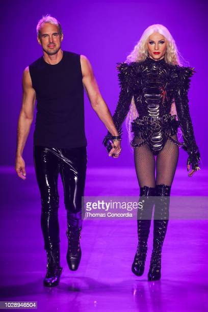 David and Phillipe Blond walks the runway during Disney Villains x The Blonds fashion show at Gallery I at Spring Studios on September 7 2018 in New...