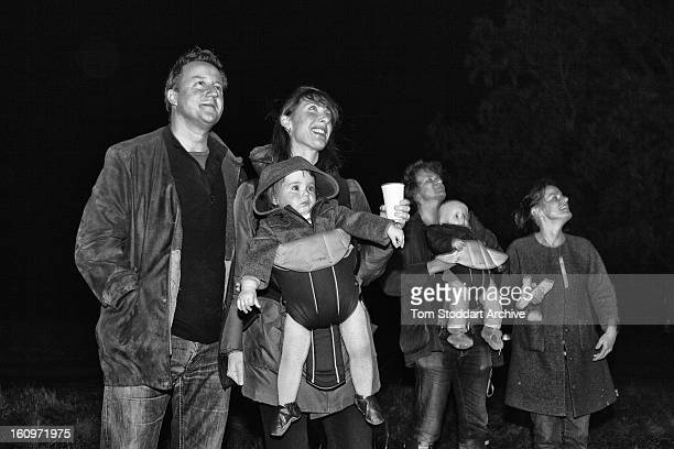David and Samantha Cameron photographed at Chequers with their daughter Florence and family friends enjoying their fireworks and bonfire to celebrate...