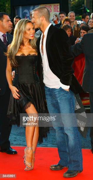 David and Victoria Beckham arrive at 19 Management's 19th Anniversary Party held at the Royal Albert Hall on April 19 2004 in London The party thrown...