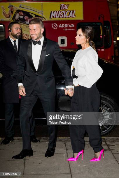 David and Victoria Beckham attends the Portrait Gala at National Portrait Gallery on March 12 2019 in London England