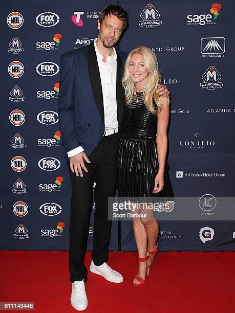 David Andersen and Nerida Andersen arrive at the Melbourne United 2016/17 NBL season launch at Laurens Hall on September 29 2016 in Melbourne...