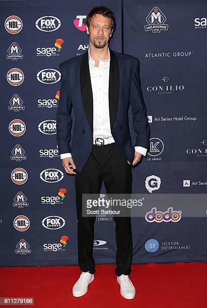 David Andersen arrives at the Melbourne United 2016/17 NBL season launch at Laurens Hall on September 29 2016 in Melbourne Australia