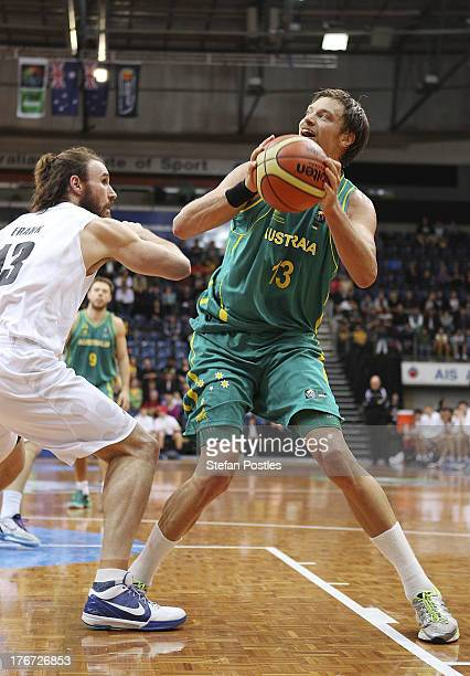David Anderson of the Boomers shapes to shoot during the Men's FIBA Oceania Championship match between the Australian Boomers and the New Zealand...