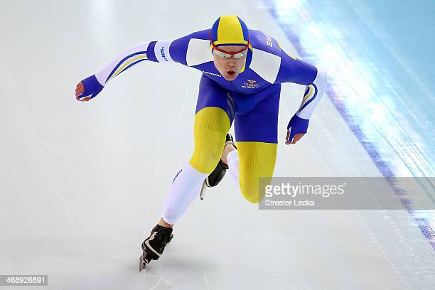 David Andersson of Sweden competes during the Men's 1000m Speed Skating event during day 5 of the Sochi 2014 Winter Olympics at at Adler Arena...