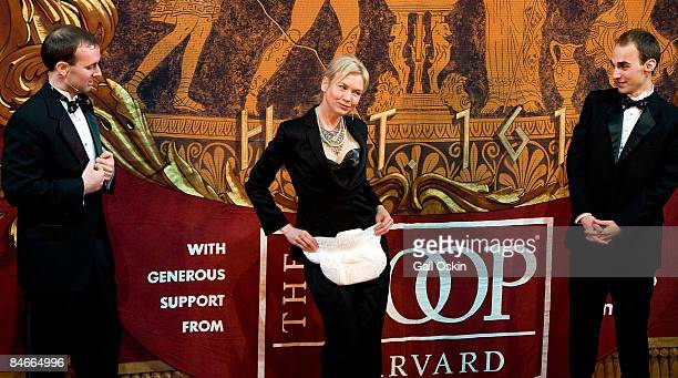 David Andersson Renee Zellweger and Tom Compton as Zellweger is honored as Harvard University's Hasty Pudding Club's 2009 Woman of the Year at...