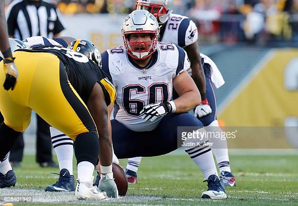 David Andrews of the New England Patriots in action against the Pittsburgh Steelers at Heinz Field on October 23 2016 in Pittsburgh Pennsylvania