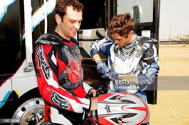 David Annable and Matthew Rhys attends the Oakley/Suzuki Celebrity Ride Day at Starwest MX Park on June 25 2008 in Perris California