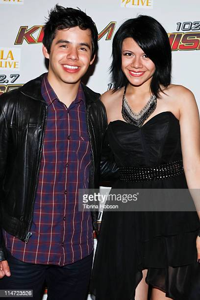 David Archuleta and Allison Iraheta arrives to the KIIS FM's 10th Annual 'American Idol' Finale Viewing Party at the Regal 14 LA Live Downtown on May...