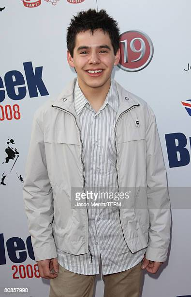David Archuleta arrives to the champagne launch of BritWeek at the Consul General's Official Residence in Los Angeles, California, on April 24, 2008.?