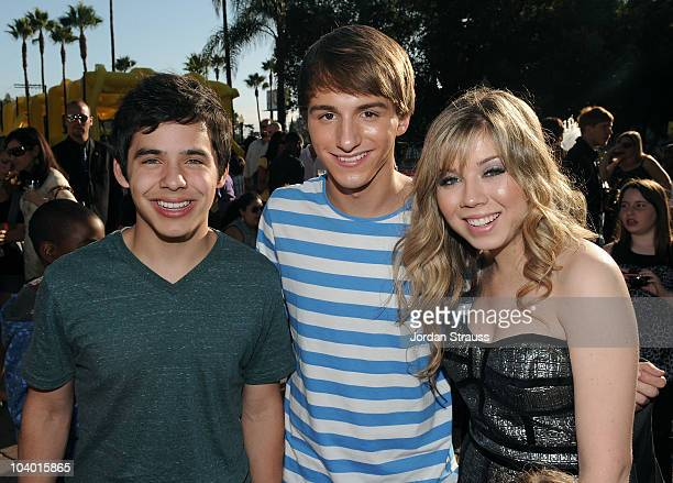 David Archuleta Lucas Cruikshank and Jennette McCurdy attend Nickelodeon's Fred The Movie premiere screening event at Paramount Theater on September...