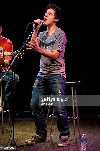 David Archuleta performs at radio station Q102's Studio Q on August 24 2010 in Philadelphia Pennsylvania