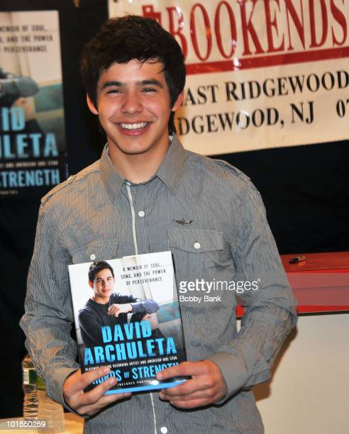 """David Archuleta promotes """"Chords Of Strength"""" at Bookends on June 1, 2010 in Ridgewood, New Jersey."""
