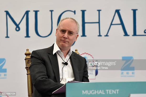 David Armitage speaks at 'Civil Wars From Antiquity to ISIS' session at the ZEE ZEE Jaipur Literature Festival 2017 on January 19 2017 in Jaipur...