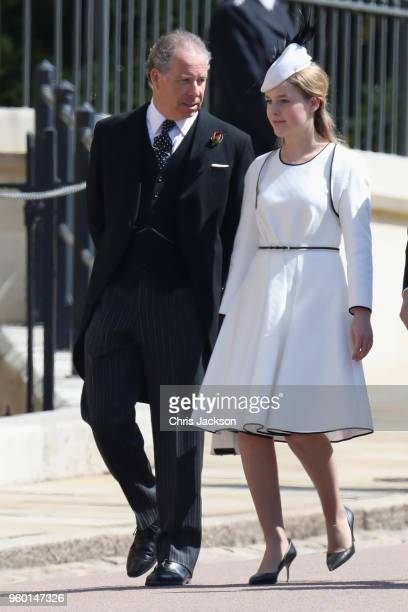 David ArmstrongJones 2nd Earl of Snowdon and daughter Lady Margarita ArmstrongJones attend the wedding of Prince Harry to Ms Meghan Markle at St...