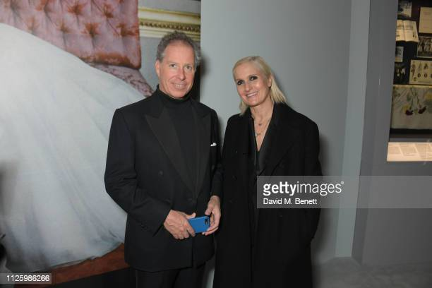 David ArmstrongJones 2nd Earl of Snowdon and Maria Grazia Chiuri attend a gala dinner celebrating the opening of the Christian Dior Designer of...
