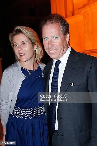 David ArmstrongJones and wife attend the Dinner At 'Fondazione Cini Isola Di San Giorgio' 2015 Venice Biennale on May 6 2015 in Venice Italy
