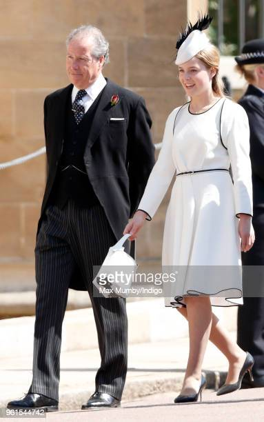 David ArmstrongJones Earl of Snowdon and daughter Margarita ArmstrongJones attend the wedding of Prince Harry to Ms Meghan Markle at St George's...
