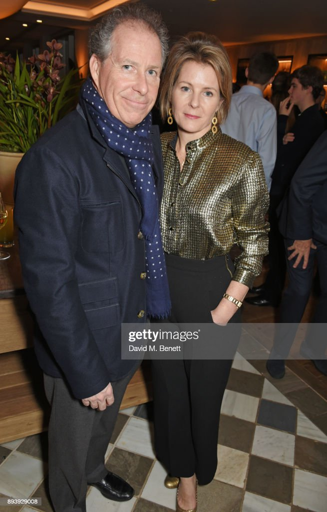 David Armstrong-Jones, Earl of Snowdon, and Serena Armstrong-Jones, Countess of Snowdon, attend Alexander Dundas's 18th birthday party hosted by Lord and Lady Dundas on December 16, 2017 in London, England.