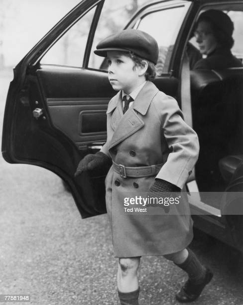David ArmstrongJones Viscount Linley arriving at Thatched House Lodge in Richmond Park London for a birthday party given for James Ogilvy son of...
