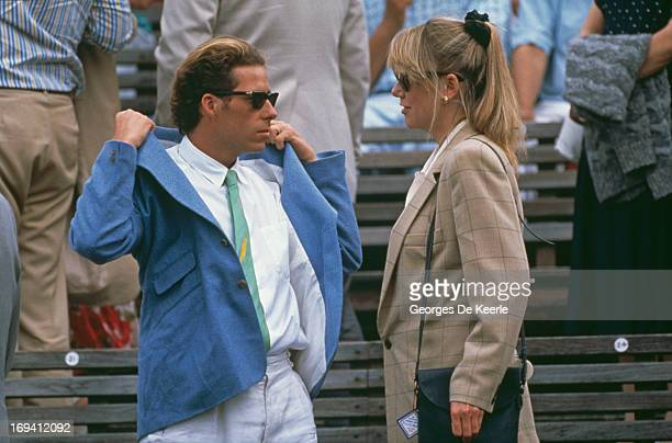 David ArmstrongJones Viscount Linley with Kate Menzies at the Stella Artois Championships Queen's Club West Kensington London 17th June 1990