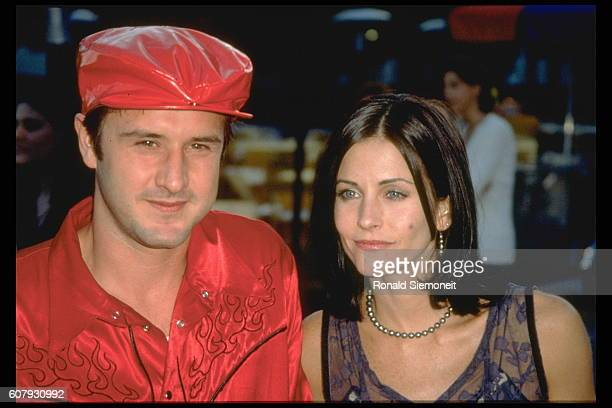 David Arquette and Courteneny Cox arrive at the Paramount Theater