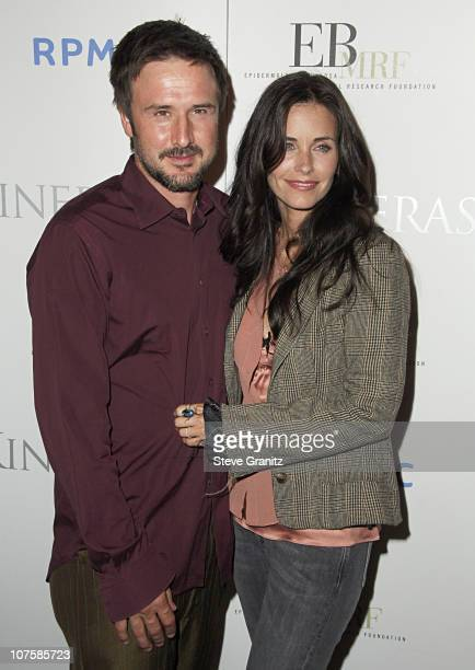 David Arquette and Courteney Cox Arquette during A Night At The Comedy Store To Benefit The EB Medical Research Foundation Sponsored By Kinerase...