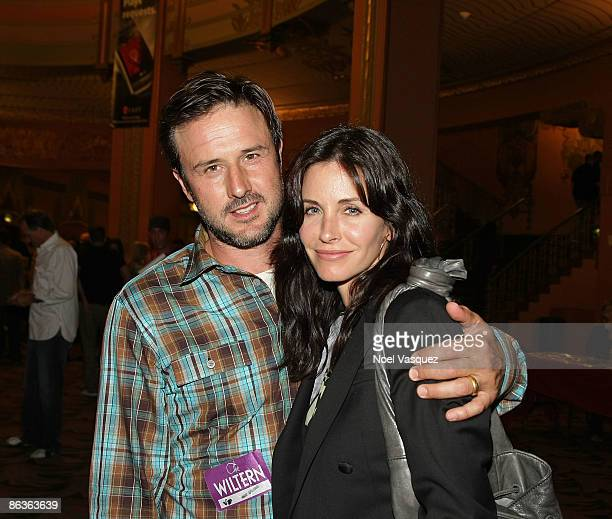 David Arquette and Courteney Cox attend the Chris Cornell concert at The Wiltern on May 3, 2009 in Los Angeles, California.