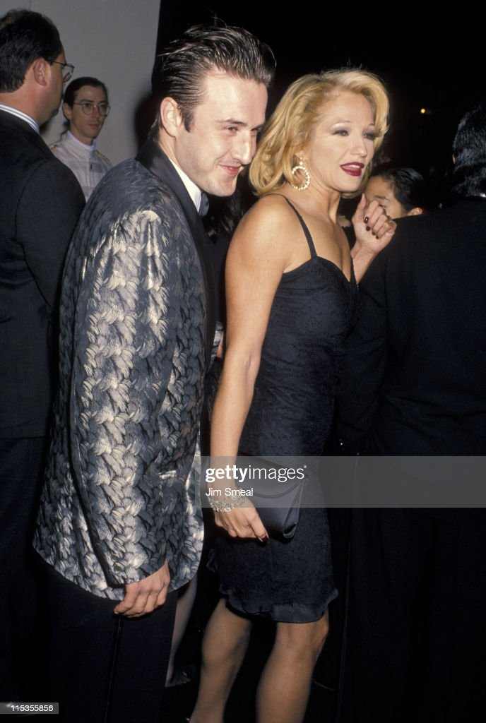 David Arquette and Ellen Barkin during 5th Annual Fire and Ice Ball to Benefit Revlon UCLA Women Cancer Center at 20th Century Fox Studios in Century City, California, United States.