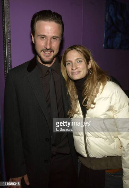 """David Arquette and Holly Wiersma during 2003 Sundance Film Festival - """"Salute To Young Hollywood - About Time"""" at Plan B Night Club in Park City,..."""