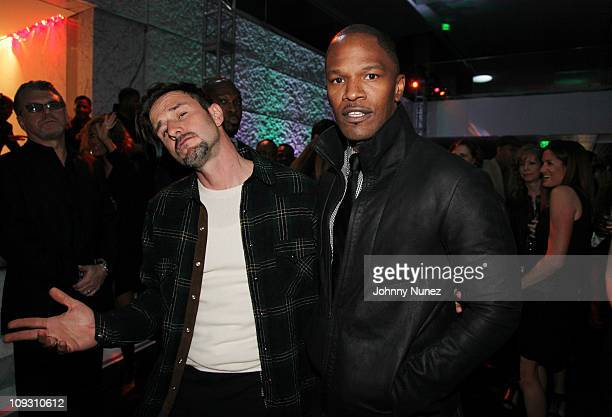 David Arquette and Jamie Foxx attend the 5th Annual Two Kings after party at CAA on February 19 2011 in Los Angeles California