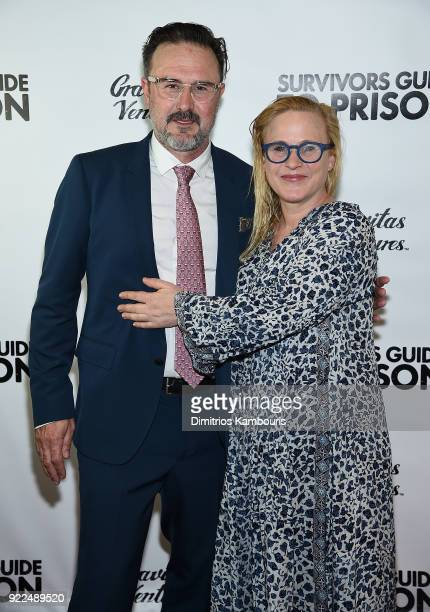 David Arquette and Patricia Arquette attend 'Survivors Guide To Prison' New York Premiere at The Landmark at 57 West on February 21 2018 in New York...