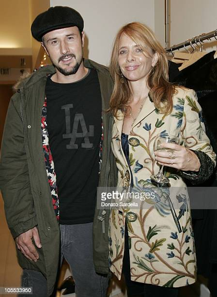 David Arquette and Rosanna Arquette during Max Mara and Town Country Host HEART at Max Mara Store in Beverly Hills California United States