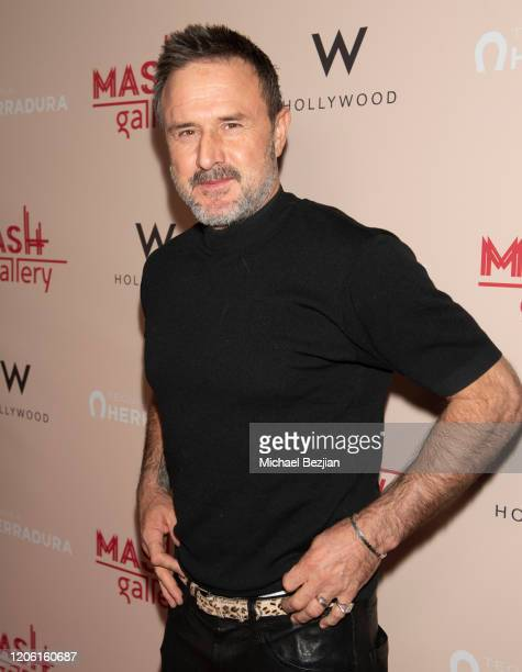 David Arquette arrives at A Gogo by Mash Gallery on February 13, 2020 in Los Angeles, California.