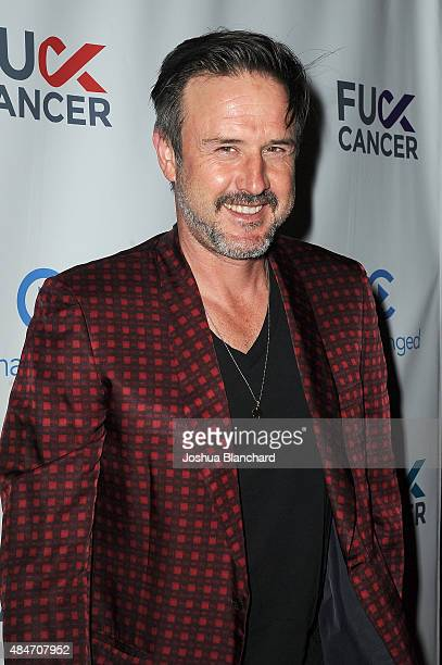 David Arquette arrives at the FCancer Benefit Event at Bootsy Bellows on August 20 2015 in West Hollywood California