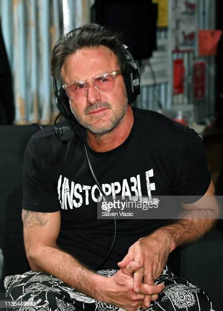 """David Arquette attends SiriusXM's """"Busted Open"""" celebrating 10th Anniversary In New York City on the eve of WrestleMania 35 on April 6, 2019 in New..."""