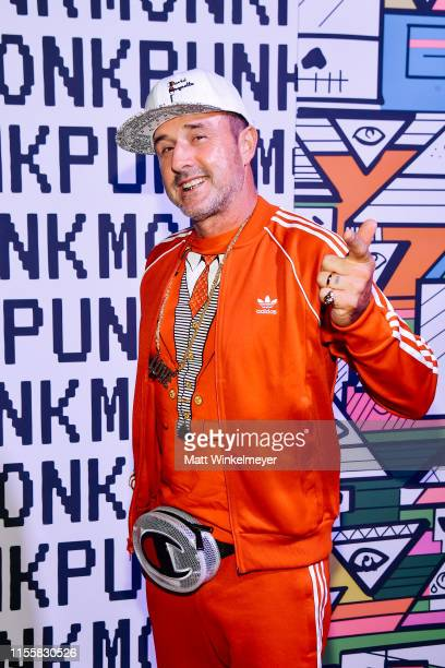 David Arquette attends the celebration of the opening of Balt Getty's new store, Monk Punk, with an East LA style block party at Monk Punk on June...