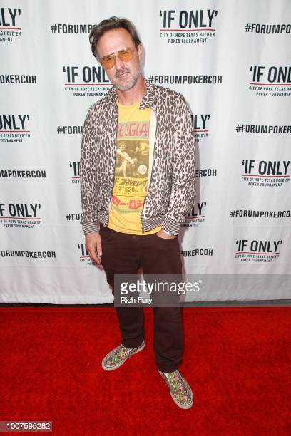 David Arquette attends the first annual If Only Texas hold'em charity poker tournament benefiting City of Hope at The Forum on July 29 2018 in...