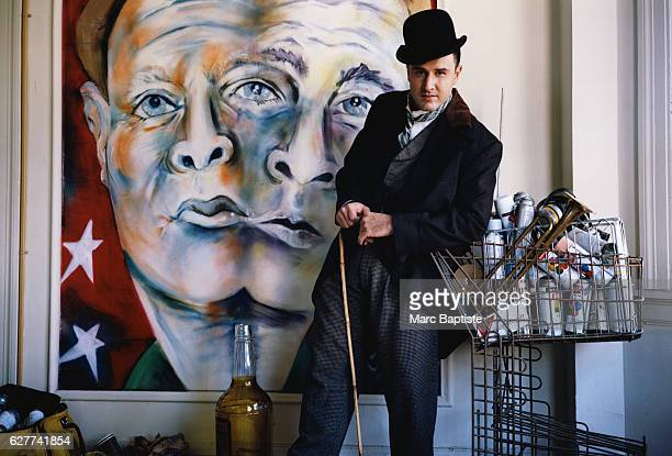 David Arquette dresses as Charlie Chaplin's Little Tramp