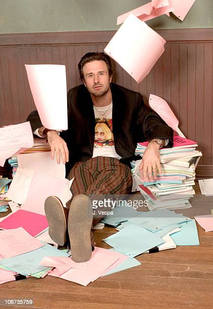 David Arquette during 2004 Sundance Film Festival 'Never Die Alone' Portraits at HP Portrait Studio in Park City Utah United States