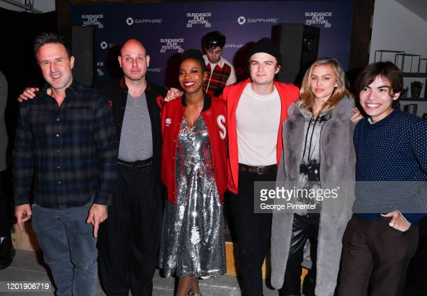 David Arquette Gene McHugh Sasheer Zamata Joe Keery Lala Kent and Josh Ovalle attend Spree After Party held at Chase Sapphire on January 24 2020 in...