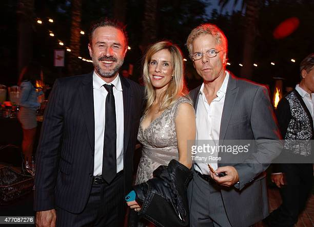 David Arquette Martha Champlin and Greg German attend the Vintage Hollywood Fundraiser for Ocean Park Community Center on June 13 2015 in Los Angeles...