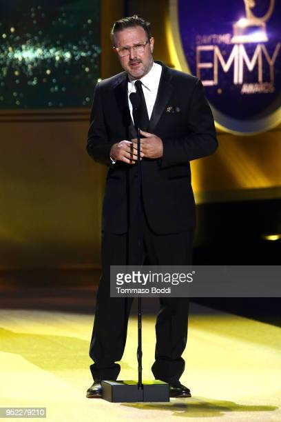 David Arquette on stage during the 45th Annual Daytime Creative Arts Emmy Awards at Pasadena Civic Auditorium on April 27 2018 in Pasadena California