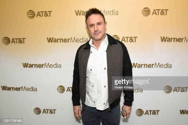 David Arquette stops by WarnerMedia Lodge: Elevating Storytelling with AT&T during Sundance Film Festival 2020 on January 24, 2020 in Park City, Utah.