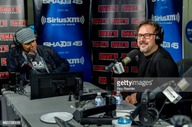 David Arquette visits Sway in Morning on Shade 45 at SiriusXM Studios on October 11 2017 in New York City