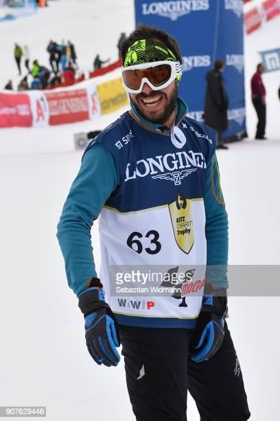 David Arroyo smiles during the KitzCharityTrophy on January 20, 2018 in Kitzbuehel, Austria.