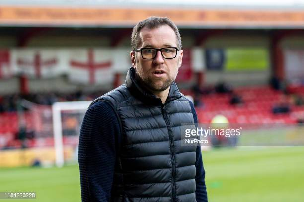 David Artell Manager of Crewe Alexandra during the Sky Bet League 2 match between Crewe Alexandra and Morecambe at Alexandra Stadium, Crewe on...